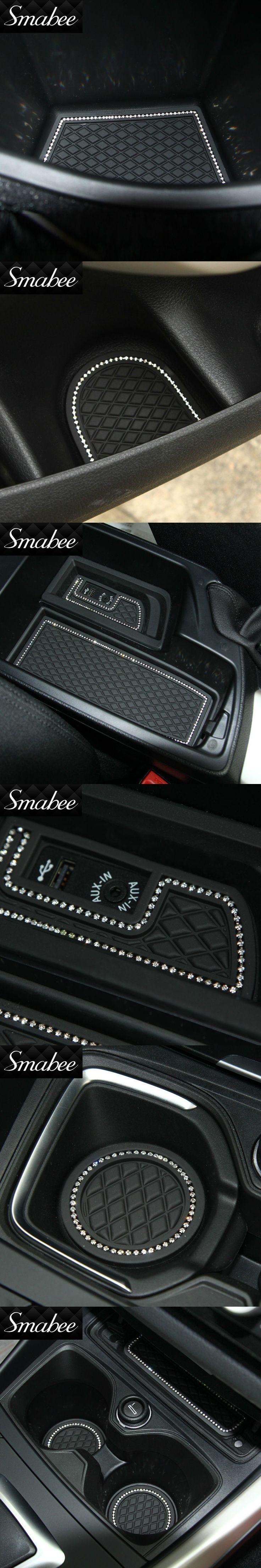 Smabee Door Groove Mat For BMW NEW 3 series F30 F35 320i 316i 328 LHD Gate slot pad Automotive interior Anti-Slip Mat