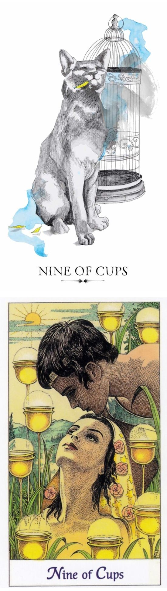 Nine of Cups: smugness and wanting more (reverse). Linestrider Tarot deck and Cosmic Tarot deck: llewellyn tarot reading, card reader vs real free tarot. New tarot cards tattoo and predictions future. #wands #android #tarotspreads #paganism #gothic #ritual