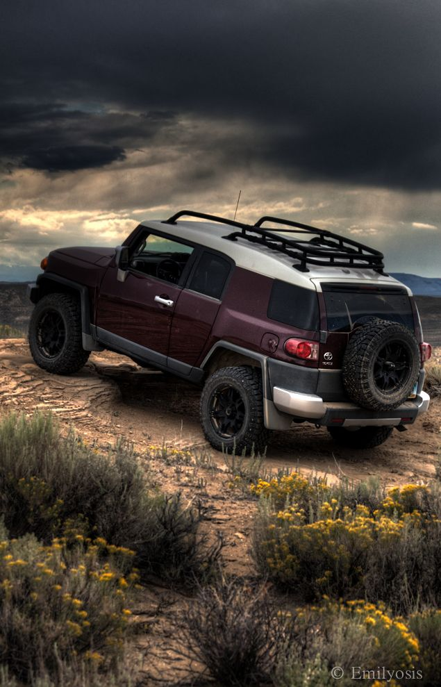Toyota FJ Cruiser  Flaming Gorge Wyoming  Copyright by Emily Zirges