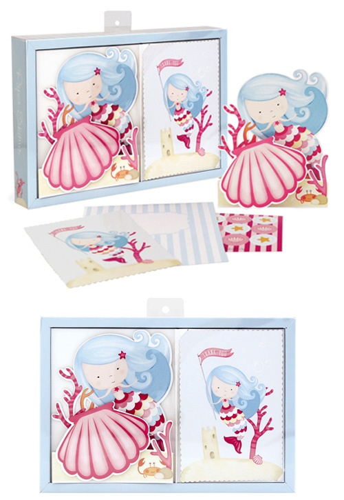 Mermaid Party Invitation Kit - Invites & Thank yous from Paper Eskimo.   Available from www.hootinvitations.com.au  #mermaidparty  #mermaidinvites
