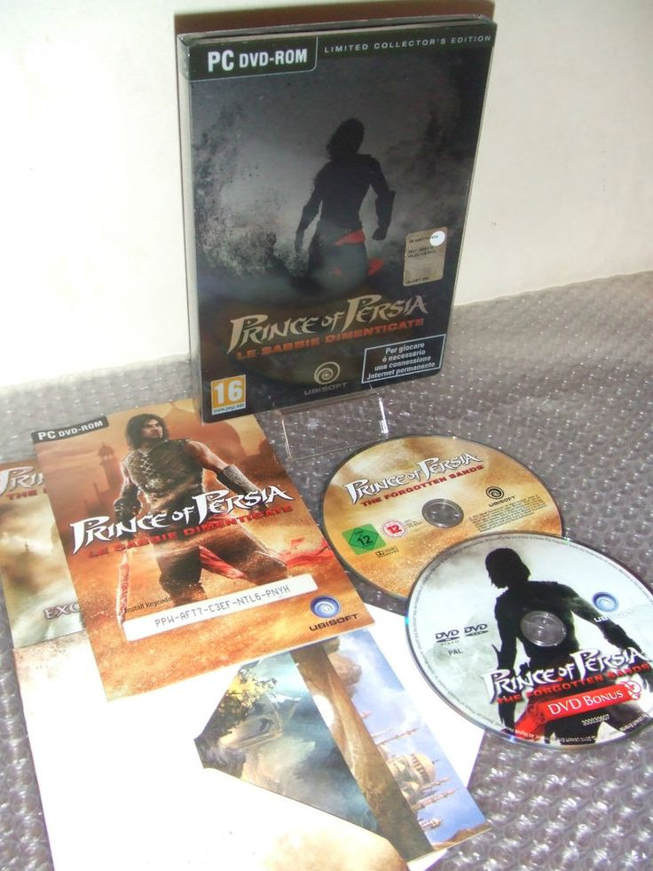 PRINCE OF PERSIA Le Sabbie Dimenticate LIMITED COLLECTOR S EDITION - PC DVD-ROM