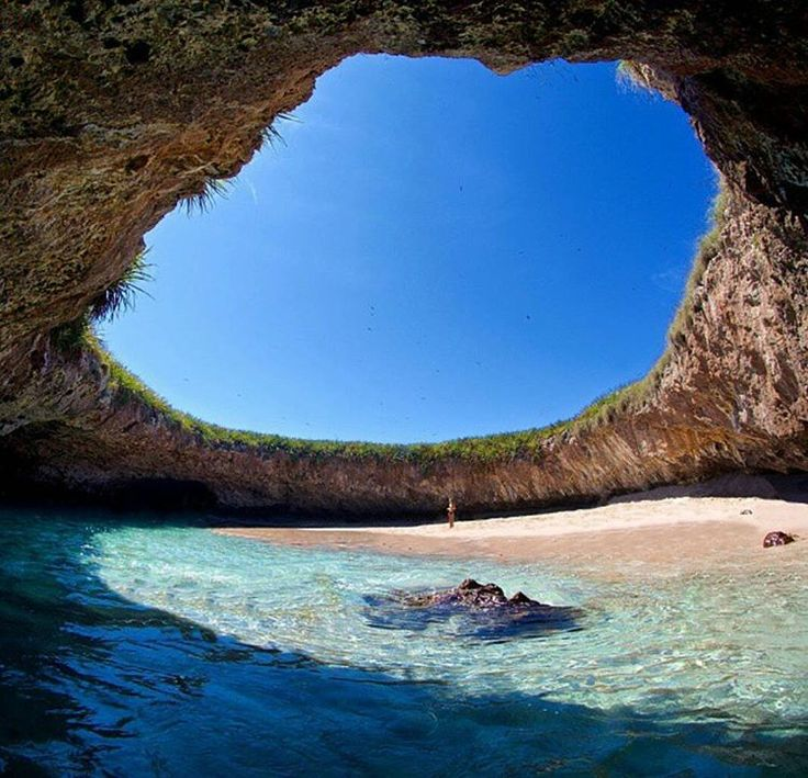 Hidden Beach in Marieta Islands. The Marieta Islands are a group of small uninhabited islands a few miles off the coast of Nayarit, Mexico.