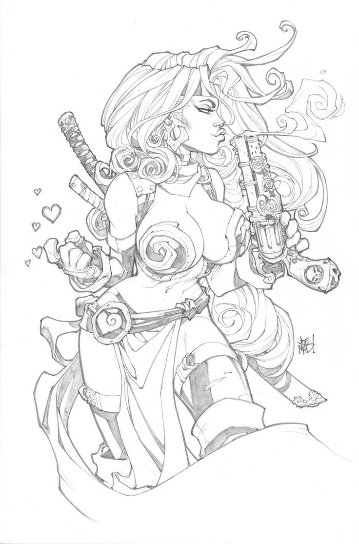 Red Monika//Joe Madureira/M/ Comic Art Community GALLERY OF COMIC ART