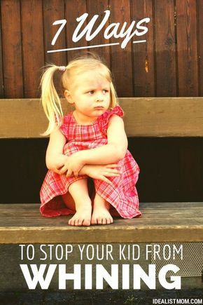 Check out these 7 simple tricks for getting your kid to stop whining. Practical parenting tips you can use!
