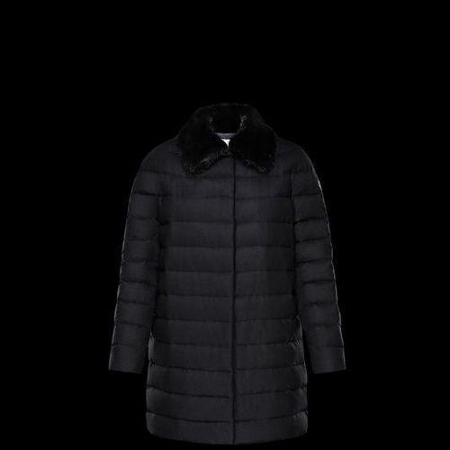 MONCLER Down Jackets Fur Blended Fabrics Plain Long Elegant Style Down Jackets 5