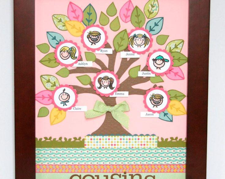 Se te da bien recortar y pegar? Prueba hacer este árbol con papel de colores y un poco de maña...