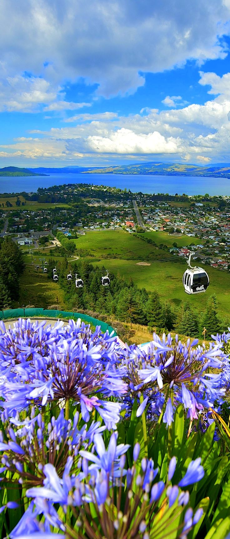 Located high on Mount Ngongotaha Skyline Rotorua offers stunning views overlooking the city and Lake Rotorua, NEW ZEALAND