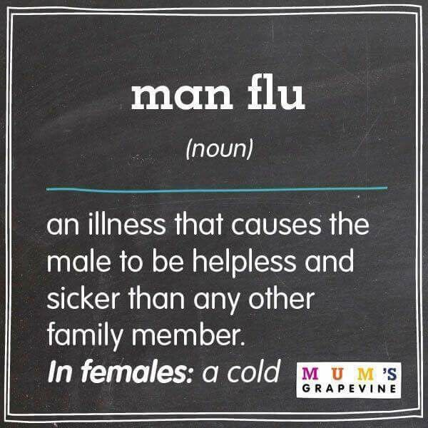 This is exactly what's going on in my house right now. I keep saying: You have a cold, you're not dying.