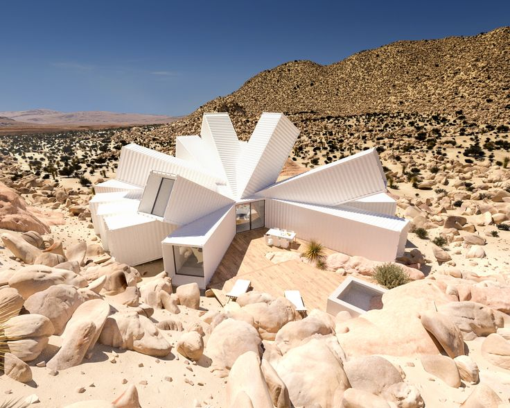 Gallery of Shipping Container Home by Whitaker Studio Blooms Like a Desert Flower from Rocky Joshua Tree Site - 1