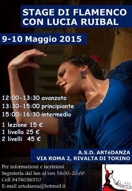 #danza  #dance  #weekendinpalcoscenico  #ilportale da 09/05/2015 a 10/05/2015 Stage di flamenco con Lucia Ruibal LUOGO: Via Roma 2 REGIONE: Piemonte PROVINCIA: Torino CITTA': Rivalta di Torino http://www.weekendinpalcoscenico.it/portale-danza/doc.asp?pr1_cod=4819#.VT_XtCHtlBc