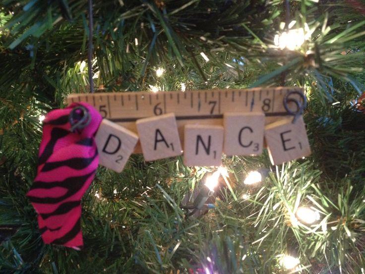Cute ornament I made for Baileys Dance Teacher.  5...6...7...8..