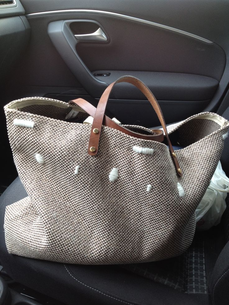 Little beach bag with embroidery stich!!