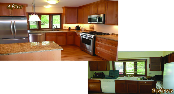 Before and after remodels building corp just for Mobile home remodel before and after