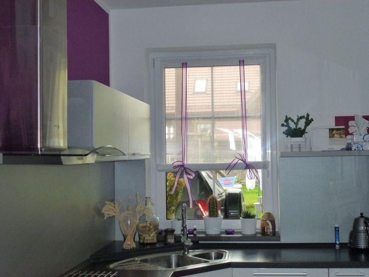 Záclony v kuchyni - nově postavený dům v Rumburku