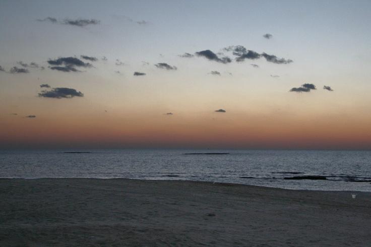 Majestic view on beach. Caesarea, Israel