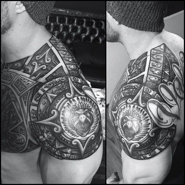 30 Tribal Unique Aztec Tattoo Designs - Ideas & Meanings