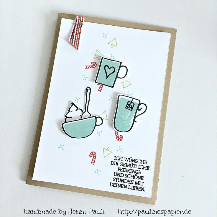 Weihnachtskarten basten mit Stampin'Up! Stempelset Hug in a mug
