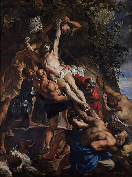 Питер Пауль Рубенс (1577–1640) The Raising of the Cross, Central Panel  около 1610 460 × 340 см Текущее местонахождение Собор Антверпенской Богоматери The triptych was installed in the cathedral only in 1815. Rubens's real entry into the cathedral was marked by the Descent from the Cross.