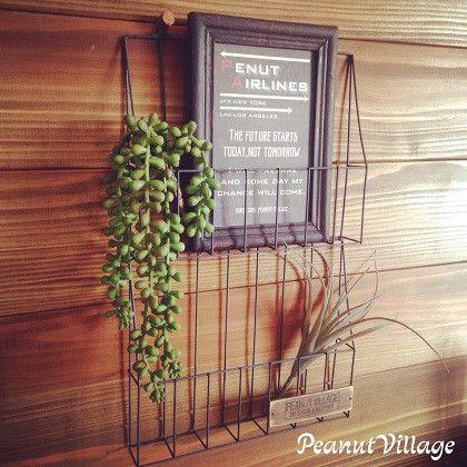 セリアのワイヤーレターラックをリメイク!【壁面を飾ろう~】 | Peanut Village*ちょこっと手作りDIY*