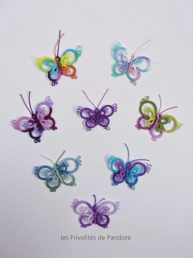 les Frivolités de Pandore, dentelle aux navettes.: Le Projet Papillon / The Butterfly Project