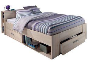 Lit 140x190 cm 3 tiroirs POCKET prix promo Conforama 189.50 € TTC au lieu de 374,50 €