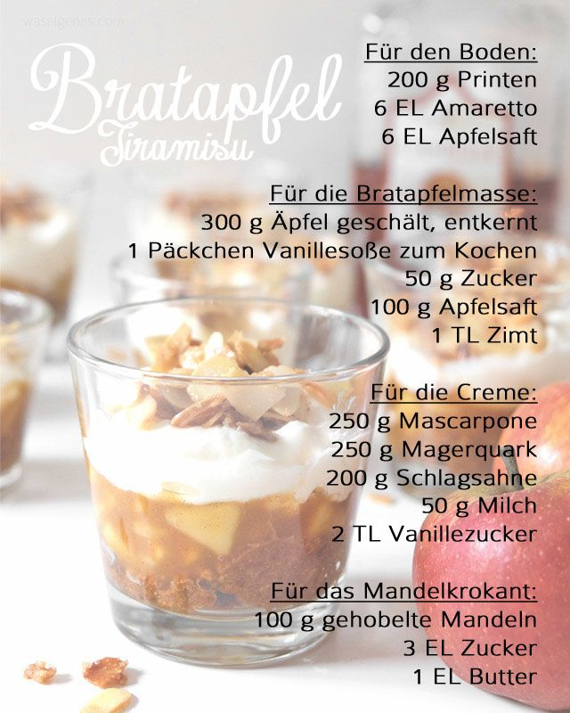 Rezept Bratapfel Tiramisu | recipe | Desserts | apple | christmas | Weihnachtsdessert | Winterdessert | Schichtdessert | how to Tutorial