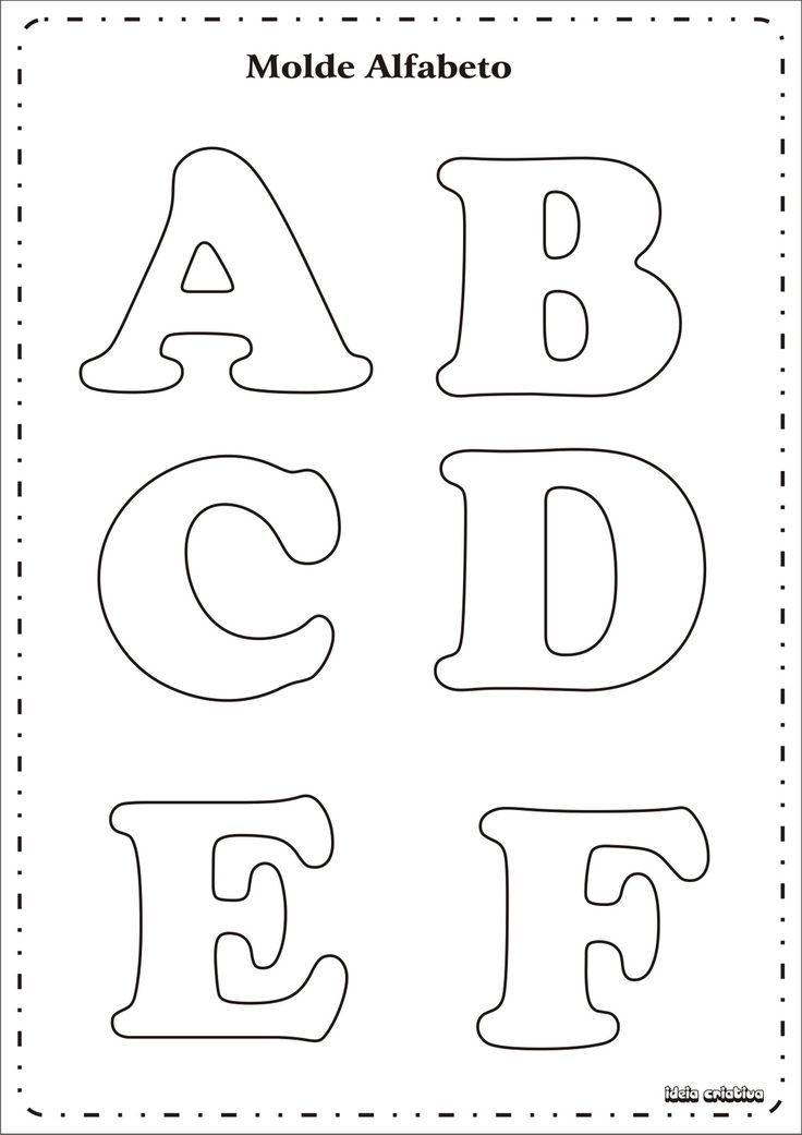 17 mejores ideas sobre Letras Grandes Para Imprimir en Pinterest