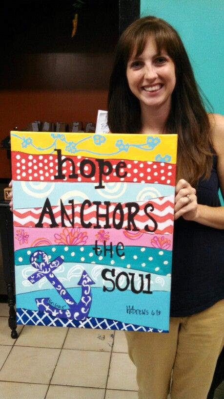 Anchor canvas painting
