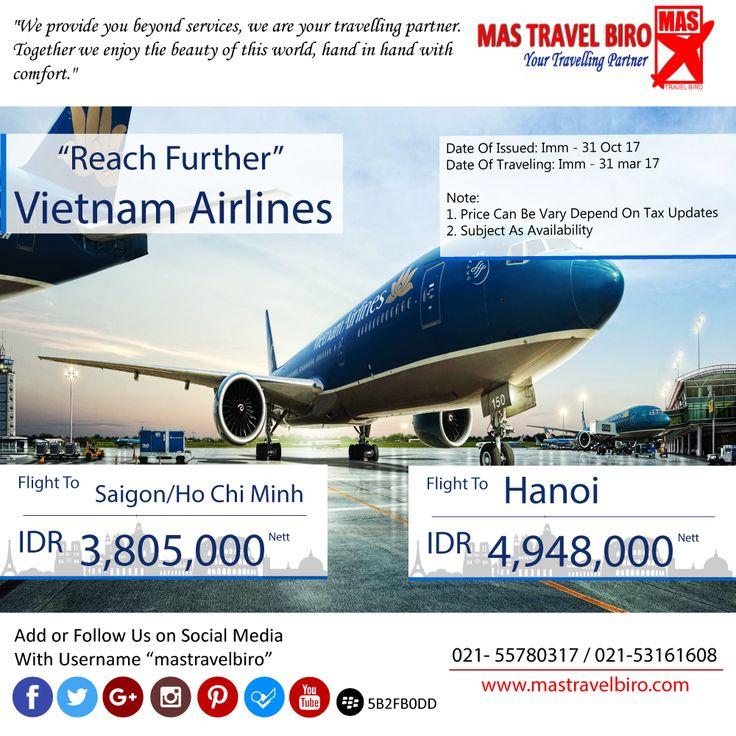 hallo travelers slamat pagi menjelang siang.. Mastravelbiro punya promo tiket nih.. terbang ke Saigon/Ho Chi Minh hanya Rp 3,805,000 segera daftarkan diri anda, SEKARANG !! 😊😊