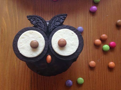 Eulen-Muffins *Hedwig* - http://www.rezeptefinden.de/r/eulen-muffins-hedwig-19829188.html