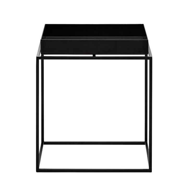 Schön HAY   Tray Table Beistelltisch   Schwarz/30x30x34cm