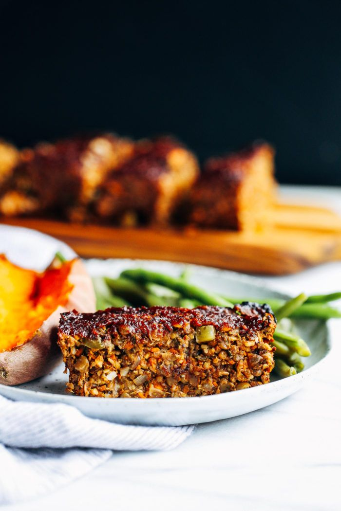 Vegan Mushroom Lentil Loaf- my favorite lentil loaf recipe that's received many rave reviews. Perfect for the holidays or to prep and freeze for healthy meals!