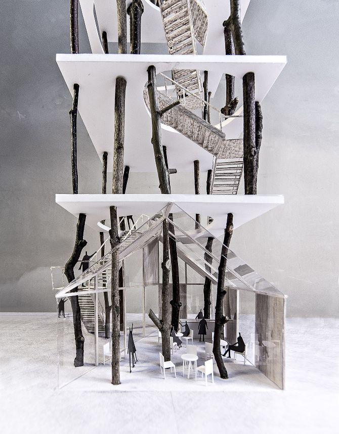"""Forrest tower"" - landscape art project by KATOxVictoria, architects, Copenhagen: http://katoxvictoria.dk/forrest-tower"
