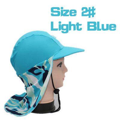 Children UPF 50+ Anti-UV Clothes Long Neck Curtain Sun Hat Kids Sport Sunshade Caps Outdoor Hood Beach Suits Mountain Equipment