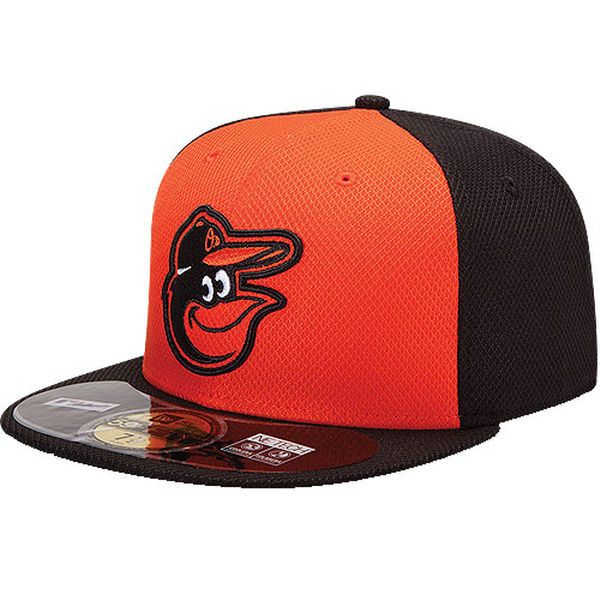 Baltimore Orioles New Era Youth Diamond Era BP 59FIFTY Performance Fitted Hat - Black/Orange - $19.99