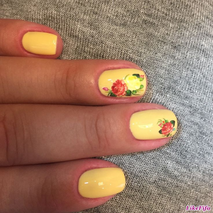 #маникюр, #маникюрлето2016, #дизайн_ногтей, #Цветы_в_маникюре, #желтый_маникюр, #маникюр_розы