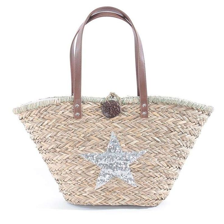 STRAW BEACH BAG W/ STAR