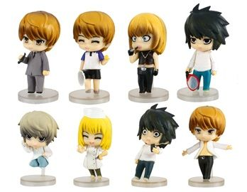 2nd Generation Death Note Character Dolls Set of 11 This set contains 11 different characters from the 2nd generation Death Note. It is perfect for Death Note fans