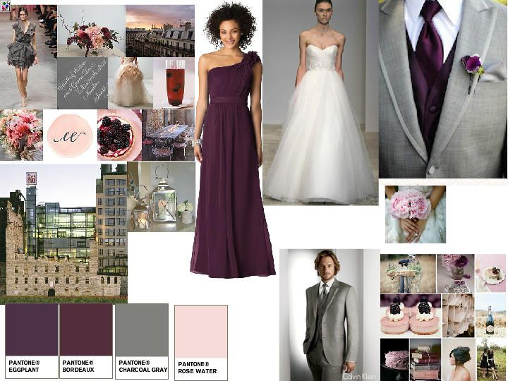 25 great ideas about eggplant wedding colors on pinterest - Grey and red colour scheme ...