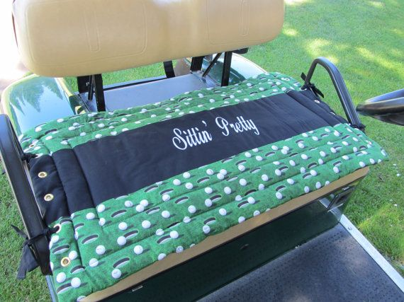 Golf Cart Seat Cover by Sittinprettycovers on Etsy, $46.50