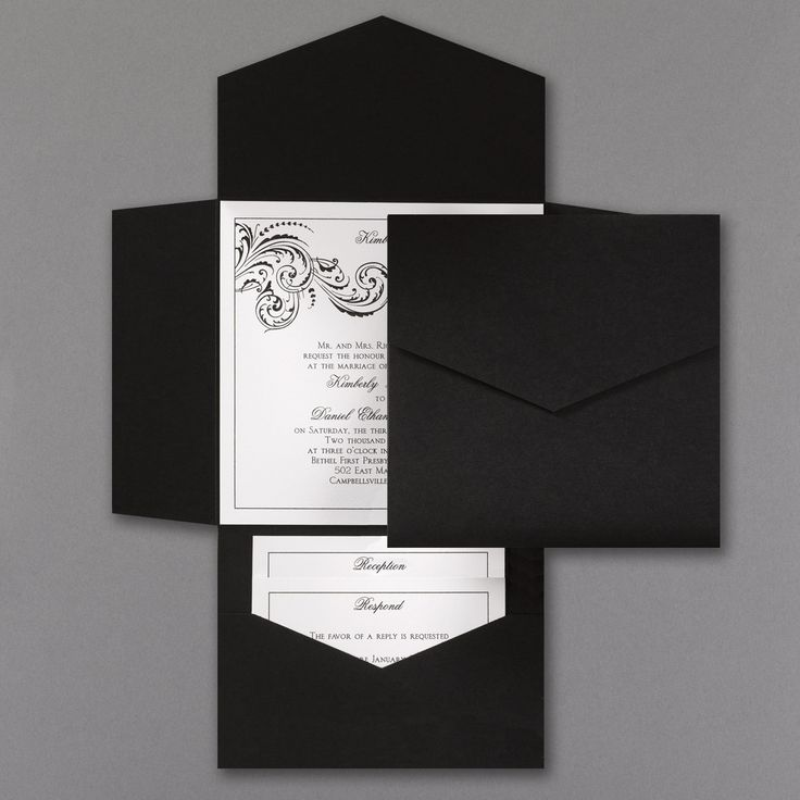 reply to wedding invitation m%0A    Black and White Pocket Wedding Invitations by CaliforniaInvitation on  Etsy