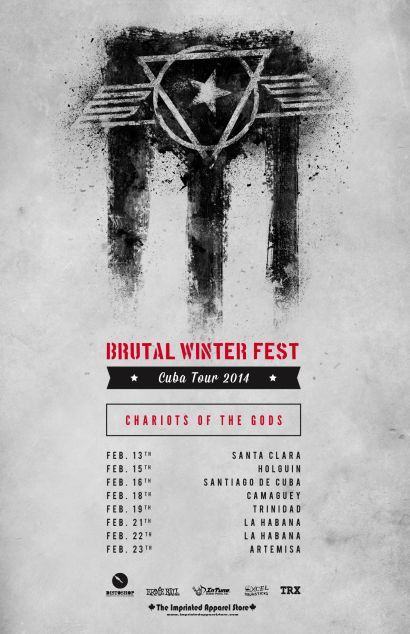 Bravewords.com > News > CHARIOTS OF THE GODS Announce Brutal Winter Fest Cuba Tour; New Live Video Footage Streaming