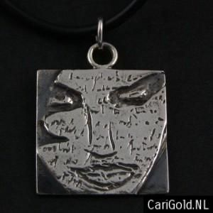#Brave - Inspired by the cd of #Marillion - Handmade jewellery Sterling silver #Pendant (20mm)- PENBRA20 - to wear on a #chain - Designed by Karin Hengeveld - to order check - www.CariGold.nl