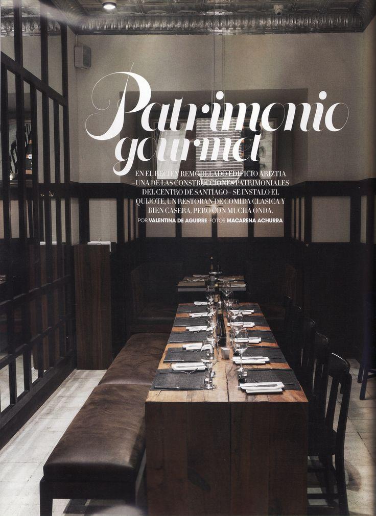 Restaurant Quijote, en Santiago, diseñador Cristian Pizarro, arquitectos, Andres Orezzoli, Miguel Dulanto