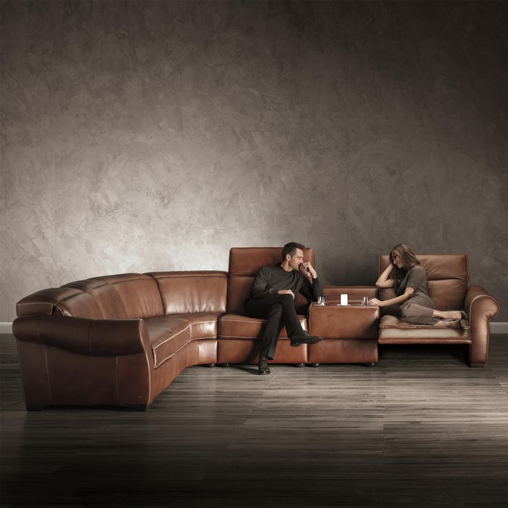 b751 reclining sectional with storage console and cupholders by natuzzi editions