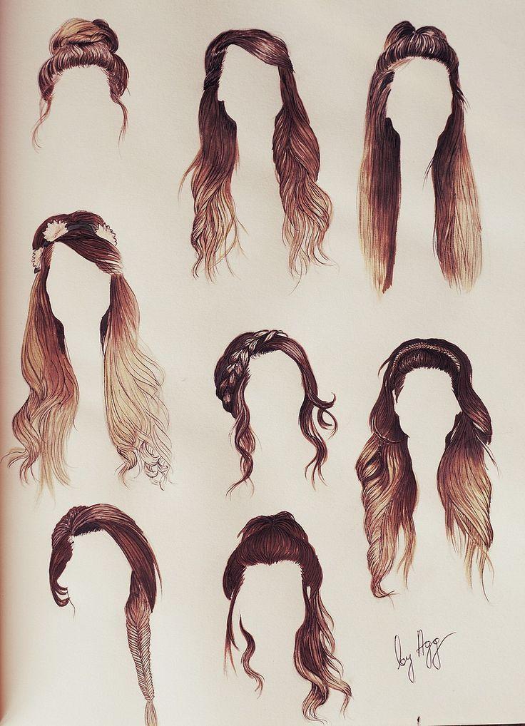 「long hair illustration」の画像検索結果