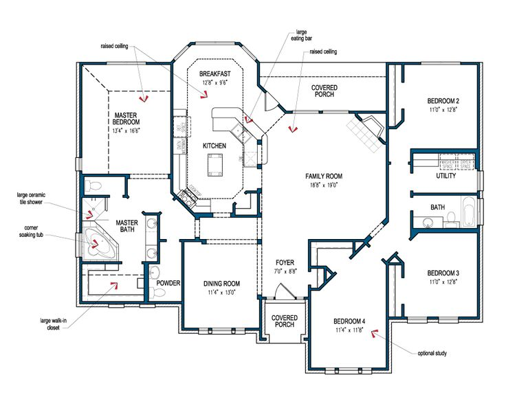 Floor Plan Of The Hidalgo By Tilson Homes.