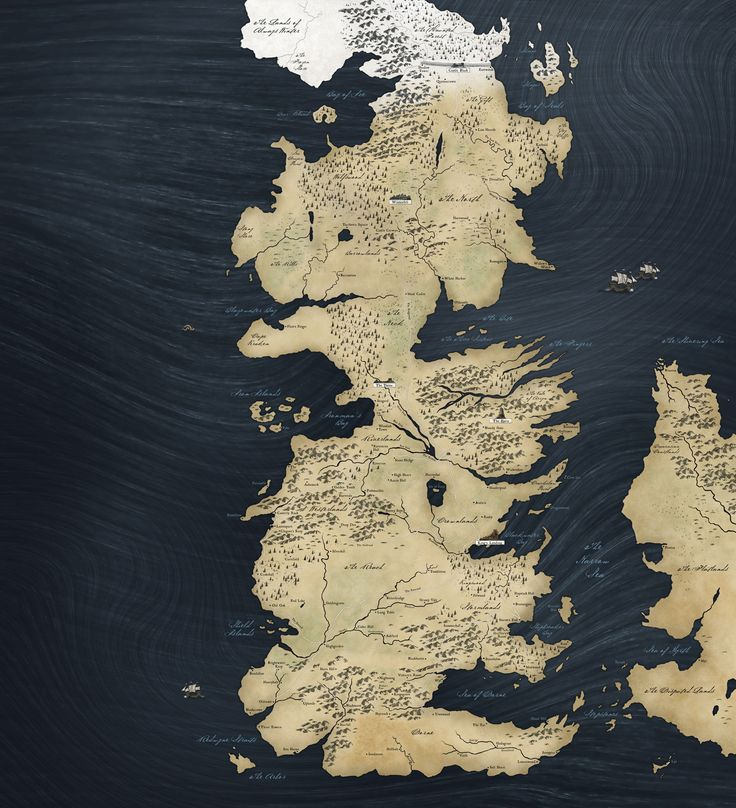 A Game Of Thrones World Map Westeros