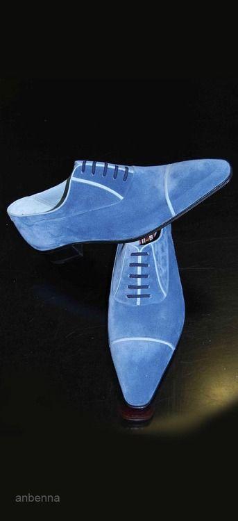 anbenna: Blue Swede Shoes - Artioli