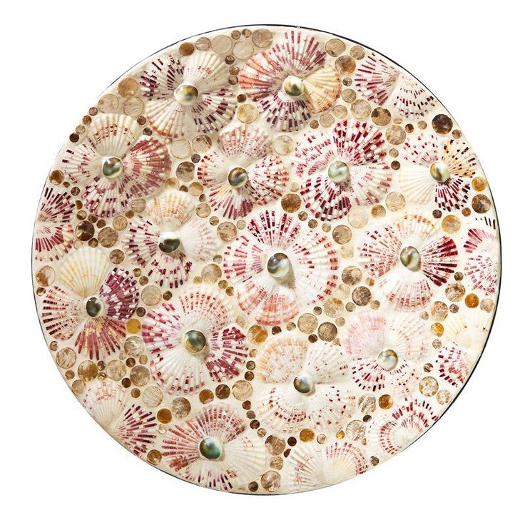 Passport Collection Mosaic Shell Serving Tray - CAL100